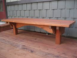 craftsman style redwood built in deck benches by gizmodyne