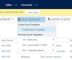 Excel Crm Template Update View Fields In Dynamics Crm 2016 Excel Templates