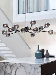 15 light chandelier orion 15 light pendant in black smoke
