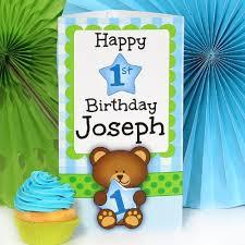 1st birthday for boys bears 1st birthday boy personalized centerpiece
