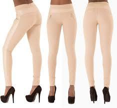 ladies women black white beige leggings trousers pants size