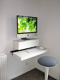 Computer Desk For Small Room Innovative Floating White Computer Desk Ideas For Small Spaces