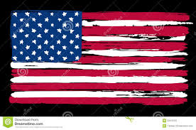 Usa Flag Vector American Flag In Painting Brush Style Stock Vector Illustration