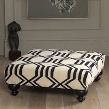 Upholstered Ottoman Coffee Table Square Upholstered Ottoman Foter