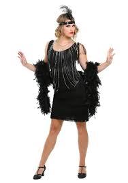 black fringe 1920 u0027s flapper costume