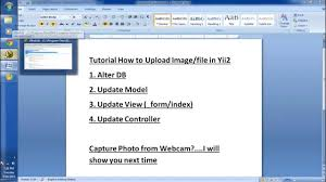 yii2 model tutorial tutorial how to upload file or image in yii2 youtube