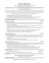 maintenance technician resume sample maintenance technician
