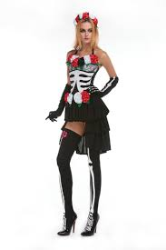 gothic halloween costumes for girls vampire costume for women skull zombies costume deguisement