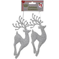 events silver deer ornament