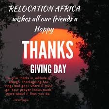 Thanksgiving Day Wishes To Friends Happy Thanksgiving To All Our Clients And Friends From Relocation