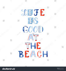life good beach hand draw watercolor stock illustration 392108413