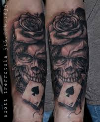 alchemy arts skull and roses sleeve in progress by