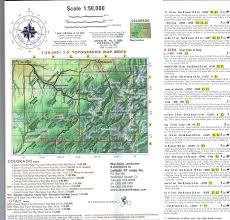 Meters To Feet by Telluride Silverton Ouray Colorado Trails Recreation Topo Map