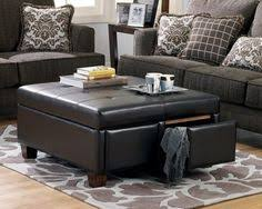 gray leather ottoman coffee table hokku designs petula bi cast leather storage ottoman with four