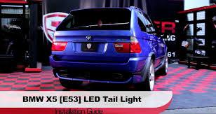 2002 bmw x5 tail light assembly spyder auto installation 2000 06 bmw x5 e53 led tail lights youtube