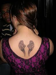 grey ink small wings on back wings ideas