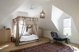 Custom Bedroom Curtains White Furniture Cream Wooden Canopy Bed Frame With Grey Curtains And