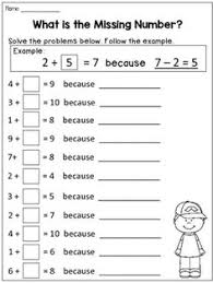 subtraction counting back number line worksheets math