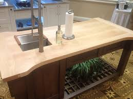 maple wood counter with undermount sink in indianapolis in