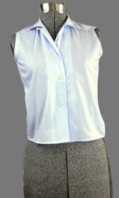 periwinkle blouse periwinkle vintage 1960 sleeveless cotton blouse just in robins