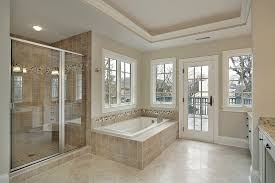 interior elegant bathroom tub and shower tile ideas in