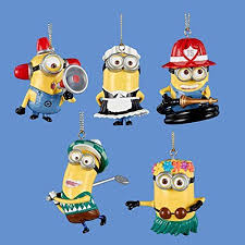 pack of 10 despicable me 2 minion ornaments 2 25 5 styles