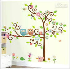 Nursery Decor Wall Stickers Large Scroll Tree Wall Decal Vinyl Nursery Stickers Removable