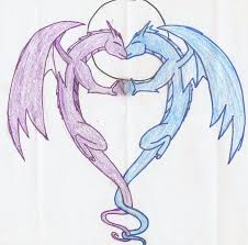 drawings of dragons in love info