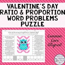 valentine u0027s day owl ratio and proportion word problems puzzle