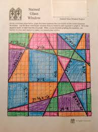 stained glass math activity linear equations project