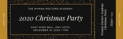 gold and black dusty party ticket templates by canva