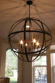 Wood Orb Chandelier Vineyard Distressed Mahogany And Bronze Light Orb Chandelier By