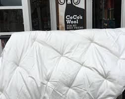 Wool Filled Duvet Wool Comforter Etsy