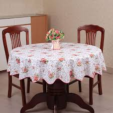 plastic table covers for weddings pastoral plastic tablecloth waterproof pvc floral printed round
