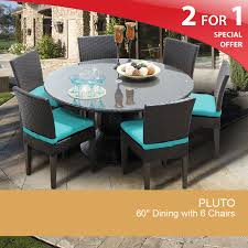 Patio Dining Furniture Sets - 60 inch round dining table patio dining table for 6