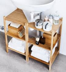 Under Sink Organizer Bathroom by Best 25 Pedestal Sink Storage Ideas On Pinterest Small Pedestal
