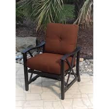 Agio Wicker Patio Furniture - agio haywood 4 person aluminum patio deep seating set with fire