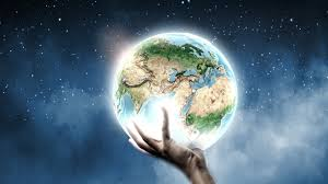 shining earth in his hand wallpapers and images wallpapers
