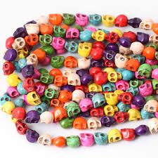 halloween beads wholesale popular turquoise skull buy cheap turquoise skull lots from china