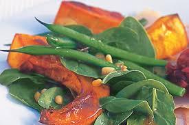 roast pumpkin u0026 green bean salad