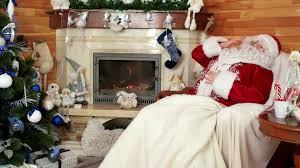 sleeping sana claus old tired santa snoozing after hard work