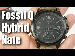 Fossil Machine 3 Hand Date Fossil Q Nate Gen 2 Hybrid Brown Leather Smartwatch First Look