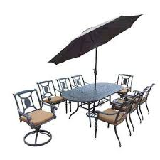 water resistant cast aluminum fade resistant patio dining sets