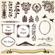 vintage pattern area borders and ornaments vector 02 vector