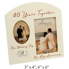 40 year wedding anniversary gift 40th wedding anniversary gift picture frame 40th wedding