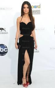 selena gomez long chiffon a line halter sleeveless dress
