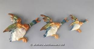 three beswick graduated flying ducks wall hangings c1960