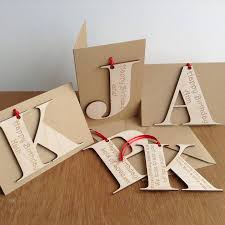 personalised initial letter birthday cards by hickory dickory