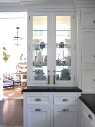 Kitchen Wall Display Cabinets by Double Sided Glass China Cabinet For In Between A Kitchen And