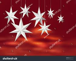 White Christmas Star Decorations by White Christmas Decoration Paper Stars Hanging Stock Illustration